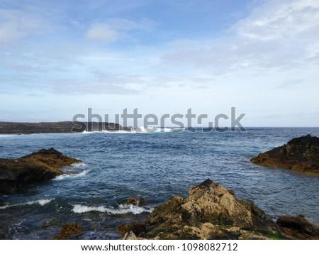 lava rocks beach #1098082712