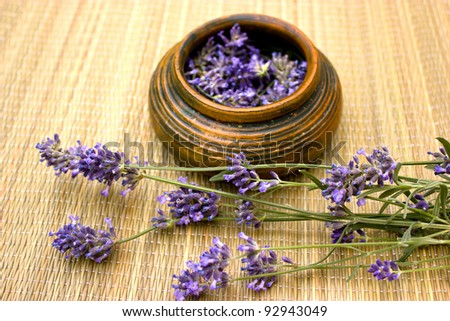 Lavander is used for spa treatments
