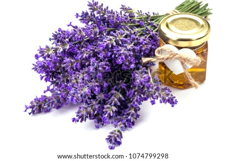 Lavander with aromatic oil #1074799298