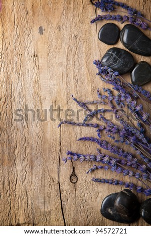 lavender and spa stones - stock photo