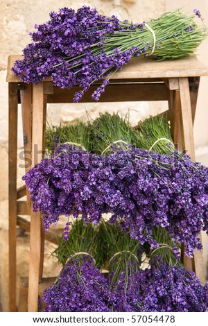 Lavender Bunches on shelf