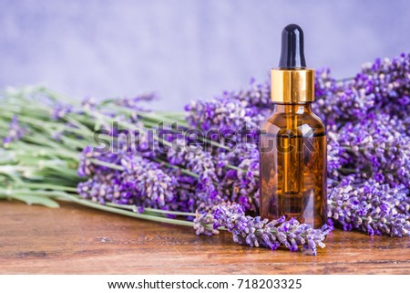Lavender essential oil, natural face and body beauty care treatment.