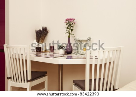 Lavender kitchen corner