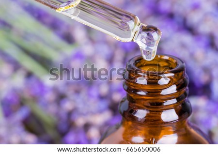 Lavender oil.Essential oil, natural face and body beauty remedies.