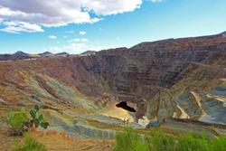 Lavender Open pit copper mine, Bisbee, Arizona USA