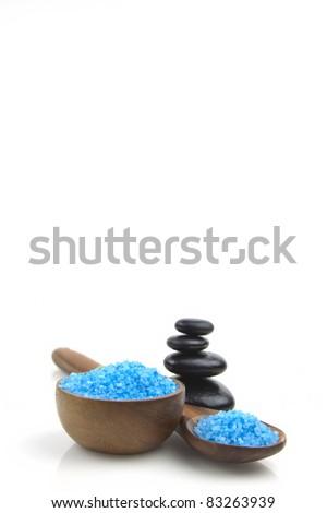 lavender organic salt for spa on a white background