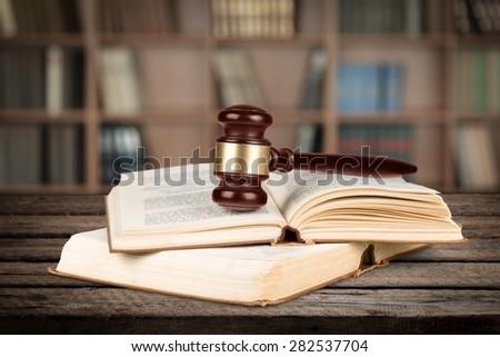 Law, Book, Gavel.