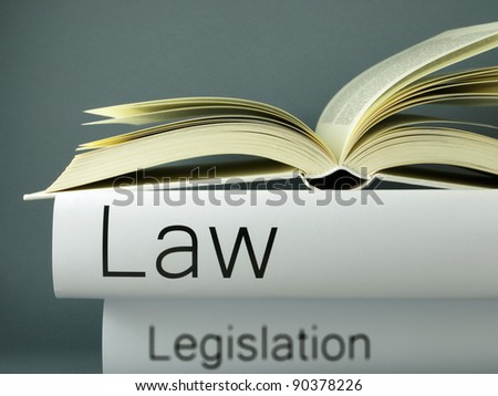 Law books background