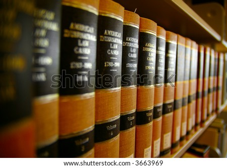 Law books in a row(shallow dof)