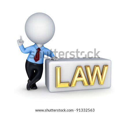 LAW concept.Isolated on white background.3d rendered.