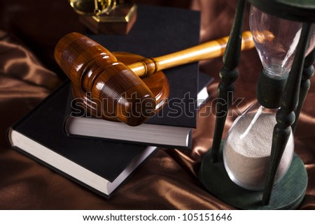 Law theme, mallet of judge