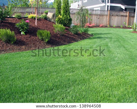 Lawn Area with Planter