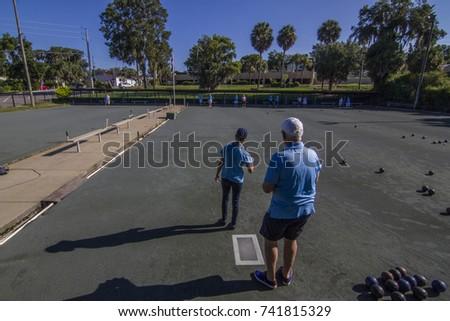 Lawn Bowling -  lawn bowls  #741815329