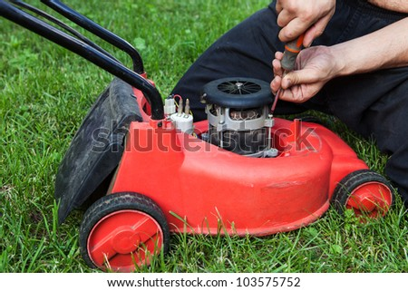 lawn mower repair at home
