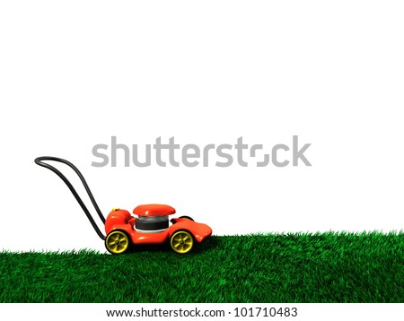Lawnmower and grass