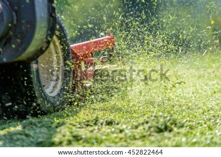 lawnmower at work #452822464