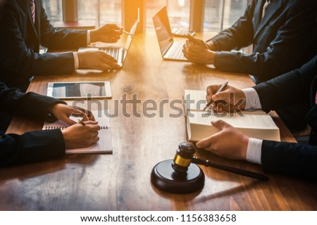 Lawyer are currently providing legal advice to clients.Legal planning #1156383658