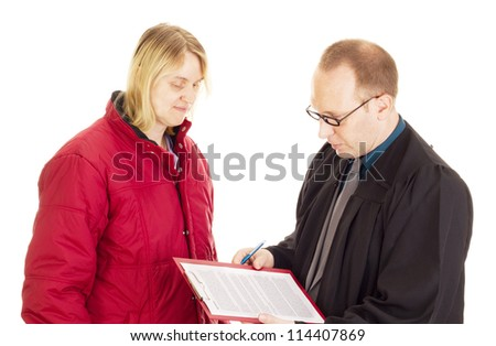 Lawyer consult with the client about an agreement