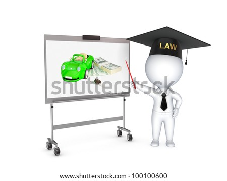 Lawyer.Isolated on white background.3d rendered.