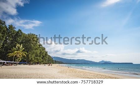 Layan Beach in Phuket, Thailand. Stok fotoğraf ©