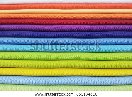 Layer of colorful fabric #661134610