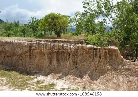 Layer of soil beneath the ground