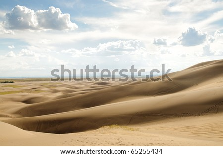 layers of sand dunes