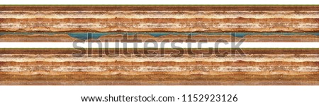 Layers of soil with groundwater. High resolution texture #1152923126