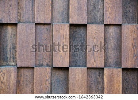 Photo of  layers of wood plank wall