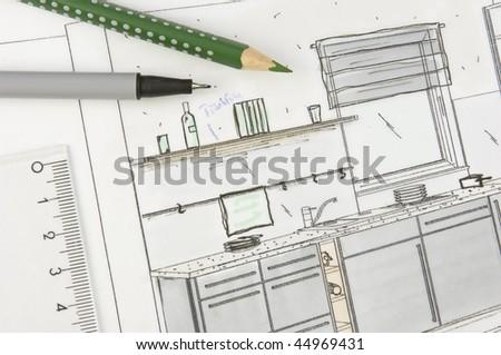 Layout of a modern kitchen