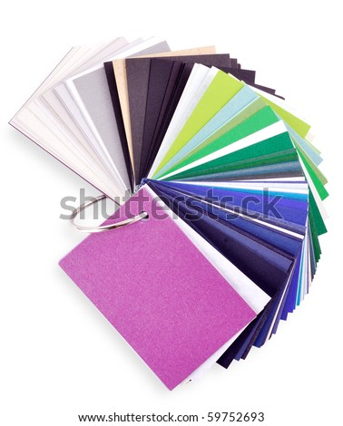 layout of colored paper on a white background