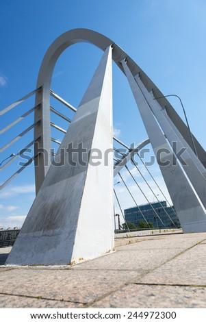Lazarevsky bridge across Malaya Nevka. #244972300
