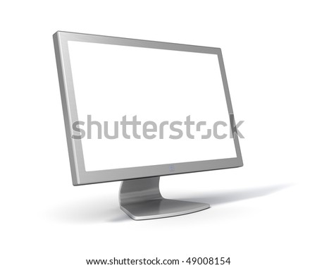 LCD Computer Monitor (with clipping Path around screen and object)