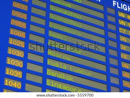 LCD Departures Board (Airline Schedule)