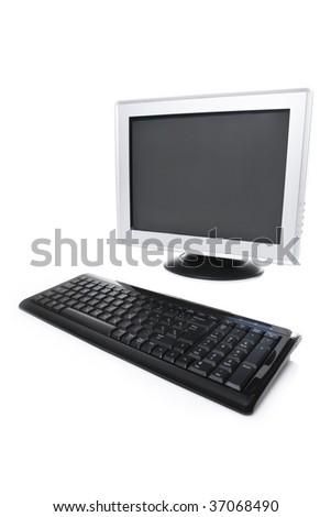 Lcd monitor and keyboard