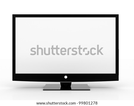 LCD monitor on white background