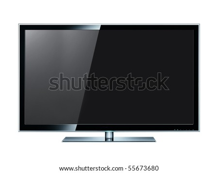 LCD panel on white