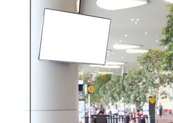 LCD television screen in the airport