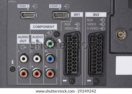 LCD TV -Audio video Inputs