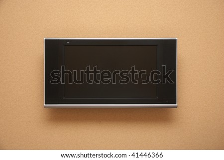 LCD TV fixed on wall