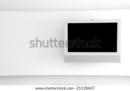 LCD TV on the White Wall