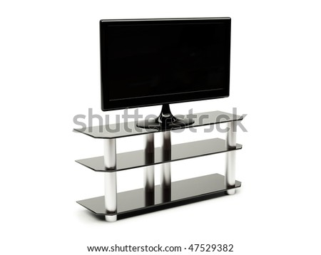 LCD TV with clipping path