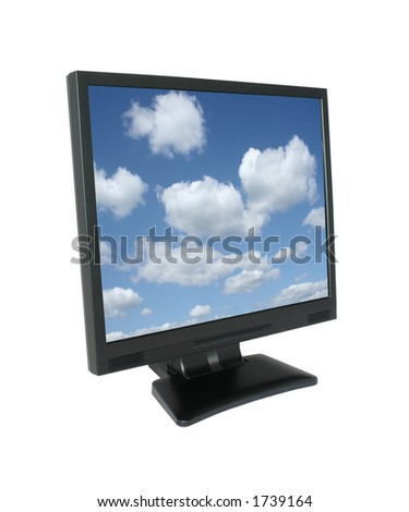 lcd with gorgeous sky, photo inside was also taken by me