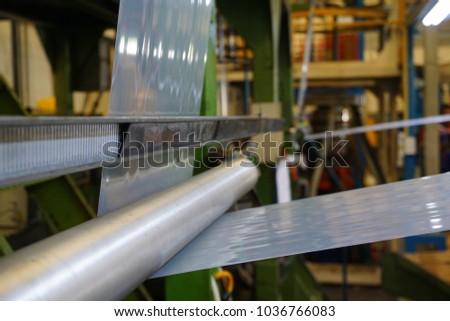 LDPE Plastic film winding through stainless idler roll