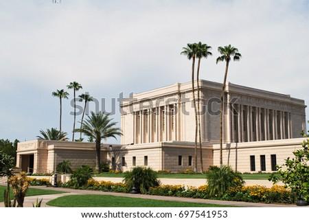 Shutterstock LDS Temple in Mesa, Arizona