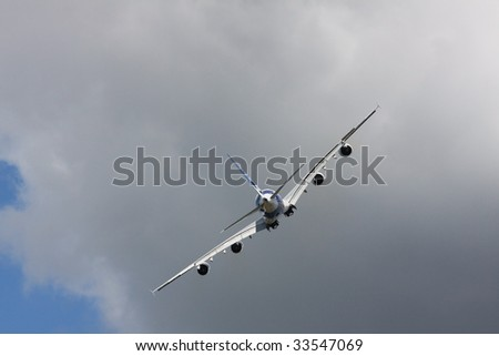 Le Bourget airshow - 19 June, Paris: Show of the Airbus A380