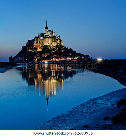 Le Mont-Saint-Michel in the twilight