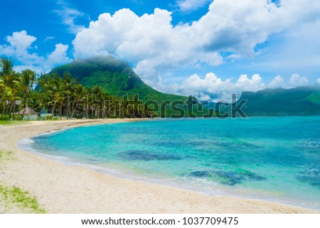 Le morne beach at Mauriotius island, Africa