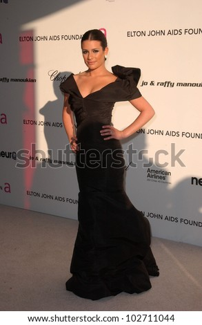 Lea Michele  at the 18th Annual Elton John AIDS Foundation Oscar Viewing Party, Pacific Design Center, West Hollywood, CA. 03-07-10