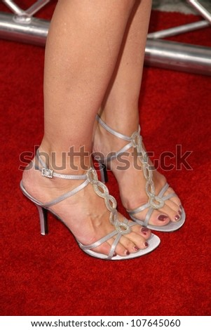 Lea Thompson's shoes at the Los Angeles Premiere of 'My Best Friend's